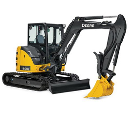 Picture of a Compact Excavator