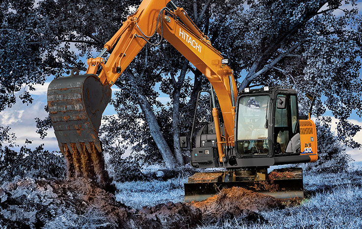 Hitachi ZX130-6 Utility Excavators - Available at Dobbs Equipment in Florida