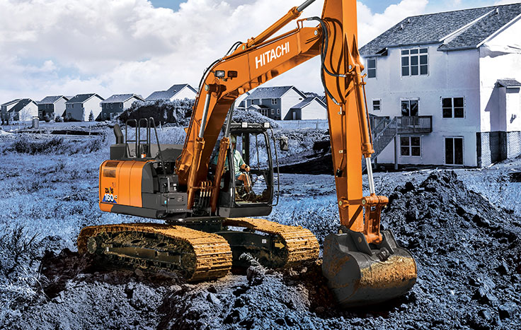 Hitachi ZX160LC-6 Utility Excavators - Available at Dobbs Equipment in Florida