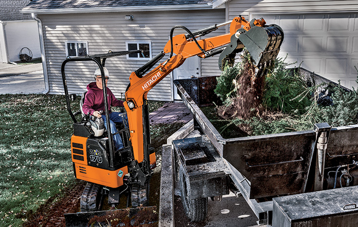 Hitachi ZX17U-5 Compact Excavator - Available at Dobbs Equipment in Florida