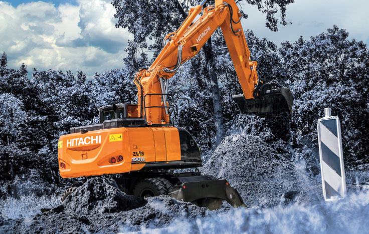Hitachi ZX190W-6 Wheeled Excavators - Available at Dobbs Equipment in Florida