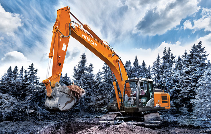 Hitachi ZX210LC-6 & ZX210-6 Utility Excavators - Available at Dobbs Equipment in Florida