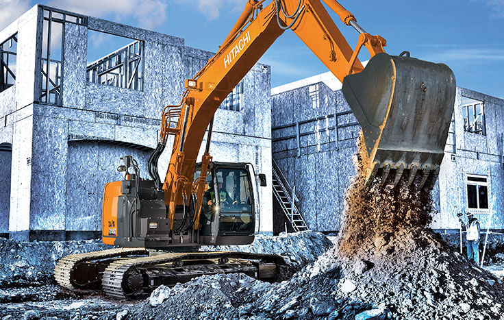 Hitachi ZX245USLC-6 Reduced-Tail-Swing Excavators - Available at Dobbs Equipment in Florida