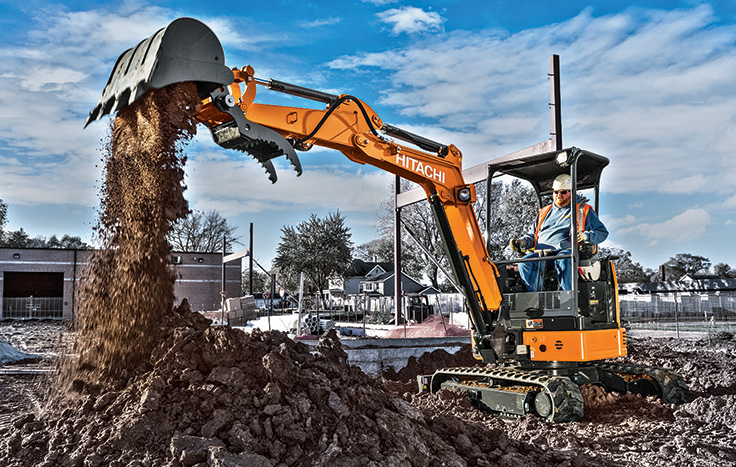 Hitachi ZX26U-5 Compact Excavator - Available at Dobbs Equipment in Florida