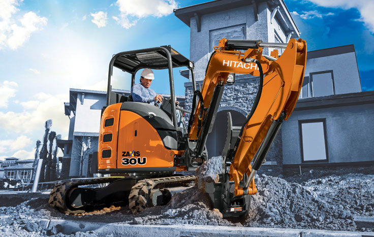 Hitachi ZX30U-5 Compact Excavator - Available at Dobbs Equipment in Florida
