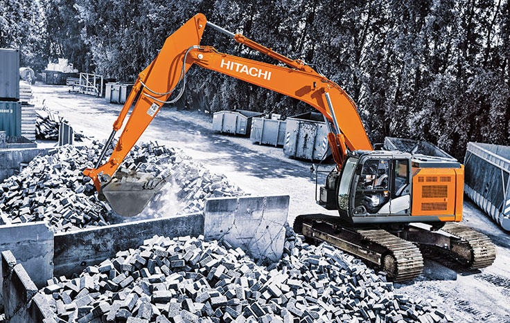 Hitachi ZX345USLC-6 Reduced-Tail-Swing Excavators - Available at Dobbs Equipment in Florida