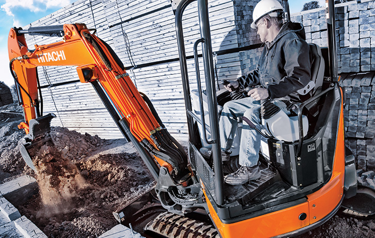 Hitachi ZX35U-5 Compact Excavator - Available at Dobbs Equipment in Florida
