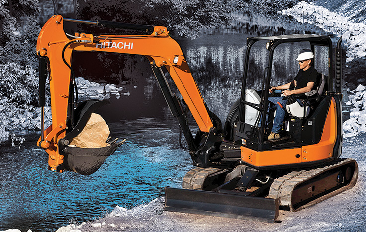 Hitachi ZX50U-5 Compact Excavator - Available at Dobbs Equipment in Florida