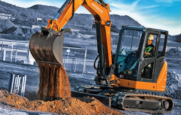 Hitachi ZX60USB-5 Compact Excavator - Available at Dobbs Equipment in Florida
