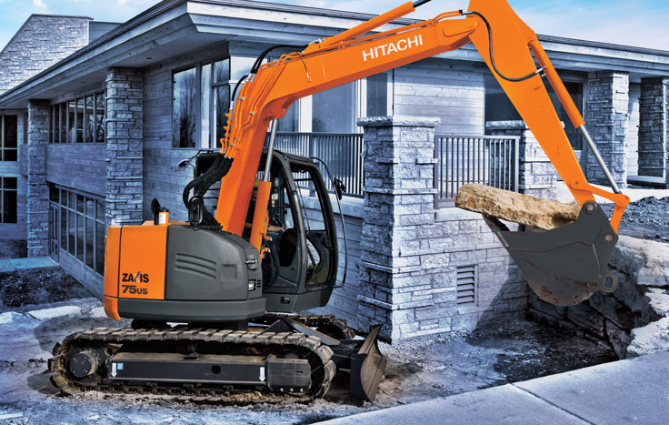 Hitachi ZX75US-5 Reduced-Tail-Swing Excavators - Available at Dobbs Equipment in Florida