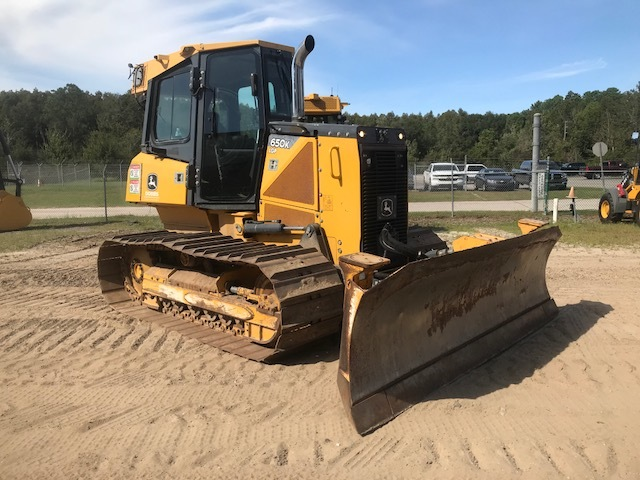 "88124 JOHN DEERE 650K Orlando 1T0650KXLDE251508 Cab with A/C, Low Ground Prssure, 28"" Pads, Power-Angle-tilt, 128"" blade. 0% financing avialable. 4769 2013 Crawler Dozer"