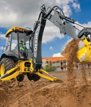 Photo of Deere equipment digging