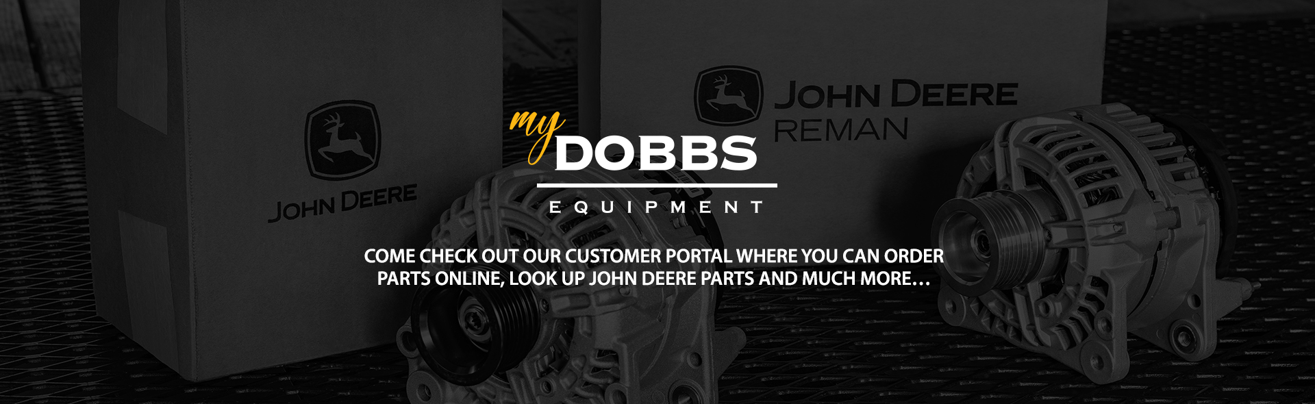 MyDobbs Equipment Banner