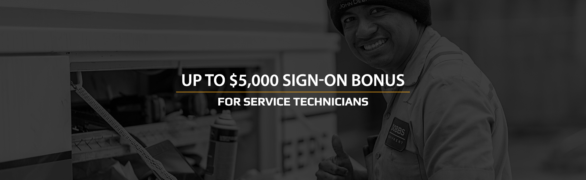 Up to $5,000 sign on bonus for Service Technicians. Find out more!